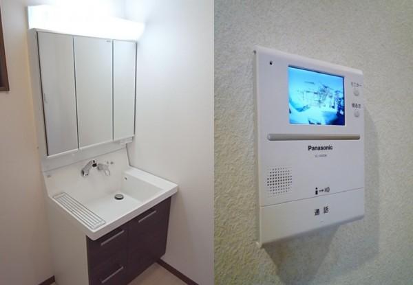 洗面台・TVモニターホン