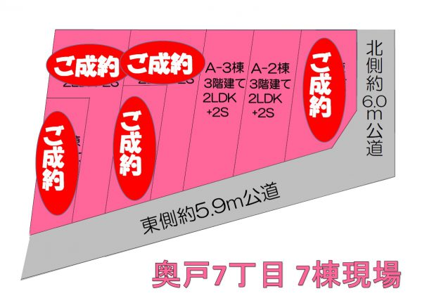 奥戸7丁目 Ⅱ 区画図