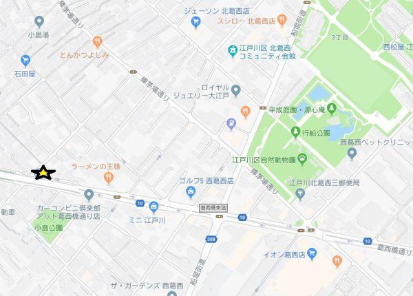 西葛西 地図